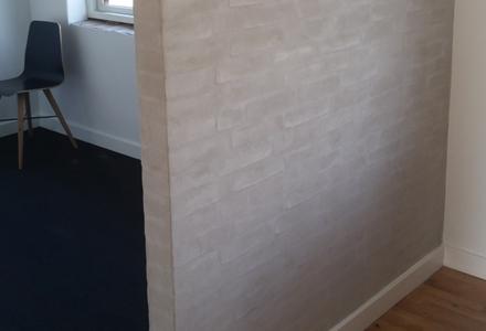 Vandskuret væg